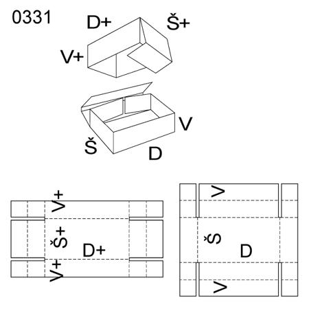 Obrázek z Krabice s víkem 0331