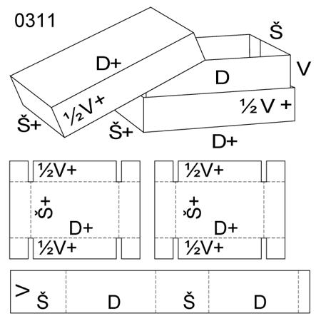 Obrázek z Krabice s víkem 0311