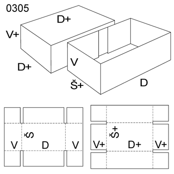 Obrázek Krabice s víkem 0305