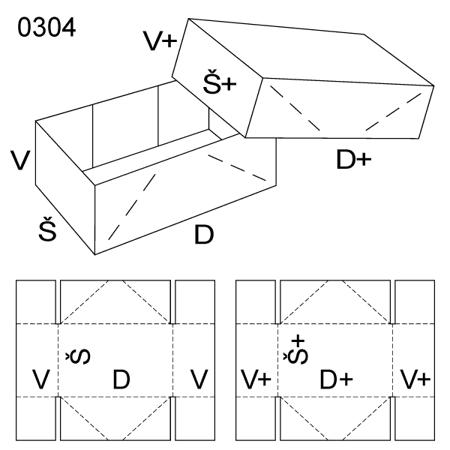 Obrázek z Krabice s víkem 0304