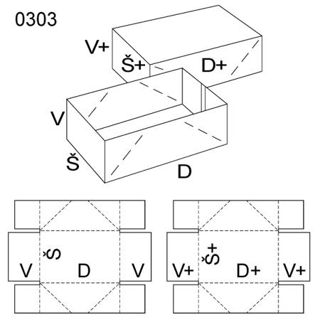 Obrázek z Krabice s víkem 0303