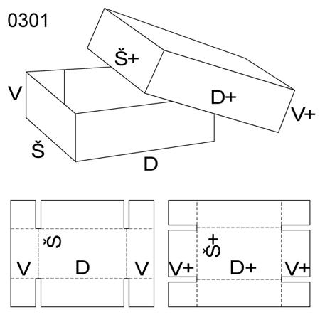 Obrázek z Krabice s víkem 0301
