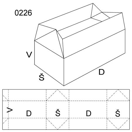 Obrázek z Klopová krabice 0226