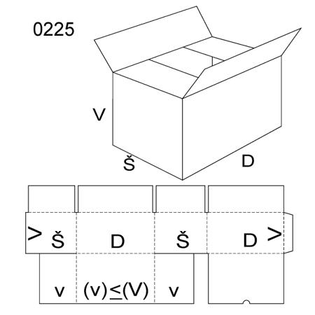 Obrázek z Klopová krabice 0225