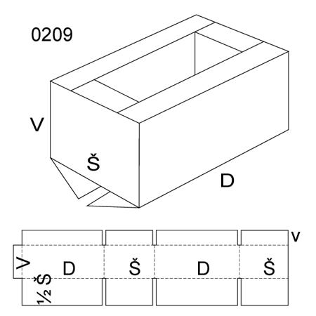 Obrázek z Klopová krabice 0209