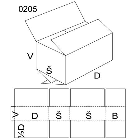 Obrázek z Klopová krabice 0205
