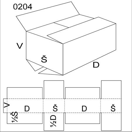 Obrázek z Klopová krabice 0204