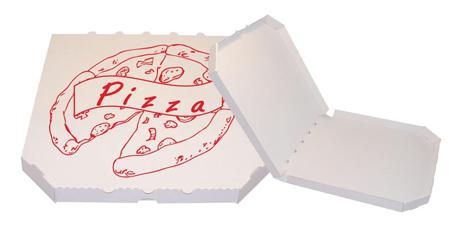 Obrázek z Pizza krabice, 32 cm, bílo bílá s potiskem