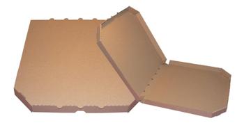 Obrázek Pizza krabice, 32 cm, hnědo hnědá bez potisku