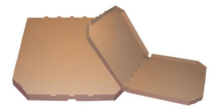 Obrázek z Pizza krabice, 32 cm, hnědo hnědá bez potisku