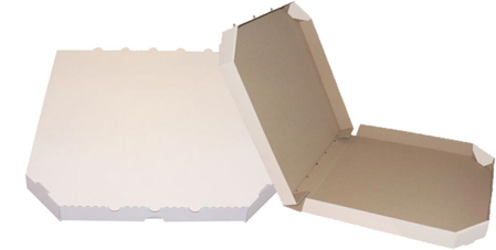 Obrázek z Pizza krabice, 32 cm, bílo hnědá bez potisku