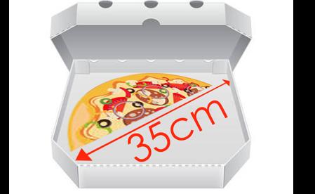 Obrázek pro kategorii Krabice na pizzu 35 cm